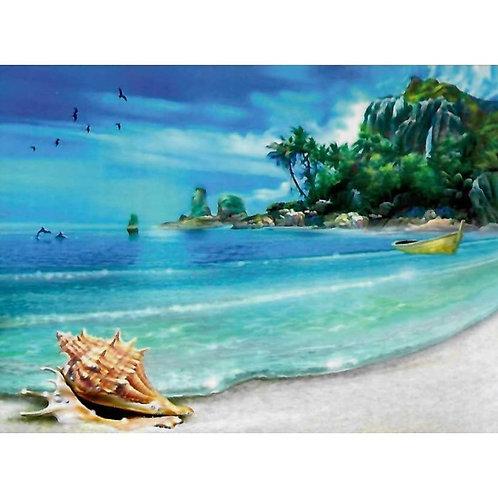 Алмазная живопись 40*50 см ПОЛНОЕ Тропический берег Модель: 301237