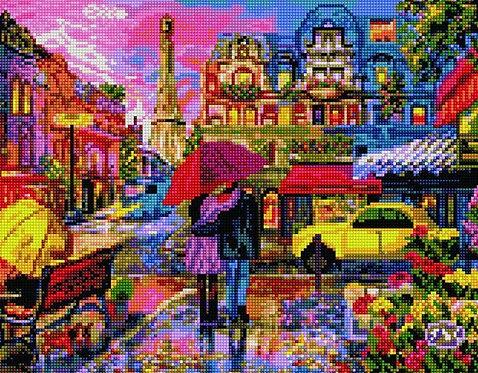 Алмазная мозаика 40х50 QA204580 Яркий Париж