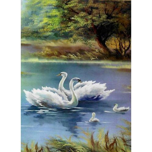Алмазная живопись 40*50 см ПОЛНОЕ Лебединое озеро Модель: 301252