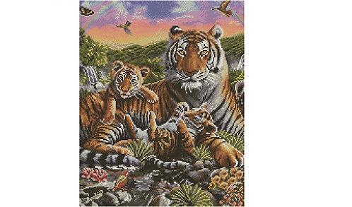Алмазная мозаика 40х50 GF4624 Семейство в лесу
