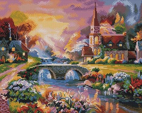 Алмазная мозаика 40х50 GF764 Сказочный домик