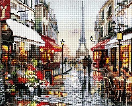 Алмазная мозаика 40х50 GF1198 Дождливый Париж