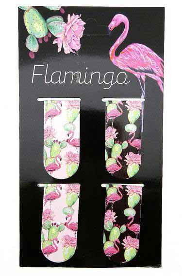 """Закладка магнитная КОКОС """"Фламинго и Кактус"""" 25*55 (4шт) 205612"""