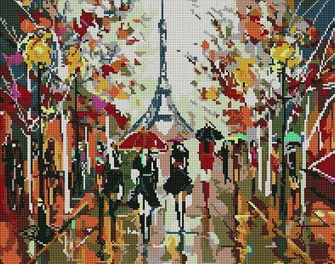 Алмазная мозаика 40х50 GF4623 Абстрактный Париж