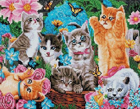 Алмазная мозаика 40х50 QA203019 Веселые котята