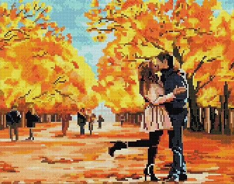 Алмазная мозаика 40х50 QA204534 Осенний поцелуй