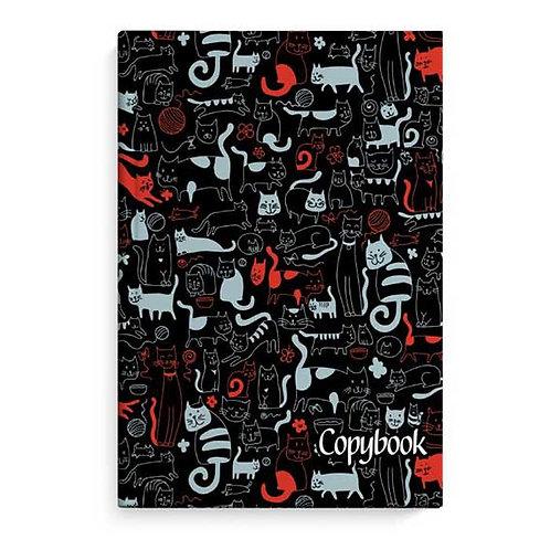 """Бизнес-блокнот 96л. (клетка) ФЕНИКС """"Коты на чёрном"""" 50804 глянц.лам."""