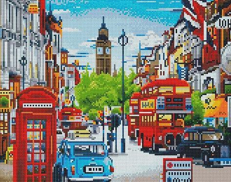 Алмазная мозаика 40х50 QA201725 Лондон