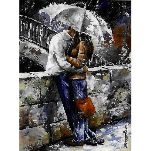 Алмазная живопись 40*50 см ПОЛНОЕ Романтика под зонтом Модель: 301239