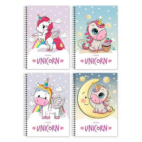 """Записная книжка А6 160стр. BG спираль """"Unicorn"""" 7725 мат.лам.,асс."""