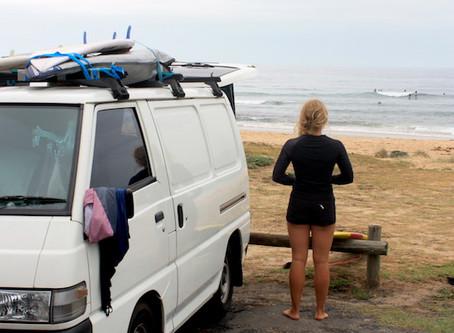 Gestrand aan het strand