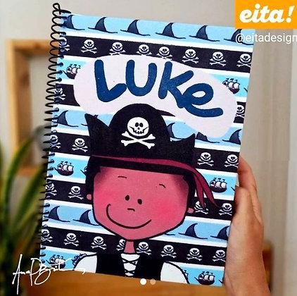 Caderno Personalizado Pirata