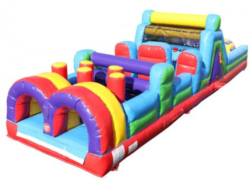 75' Obstacle Course with Slide