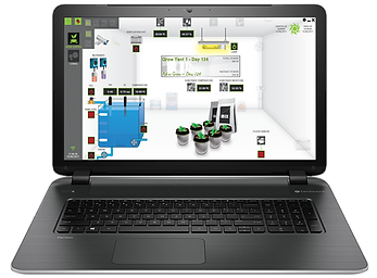 laptop with grolab software overview