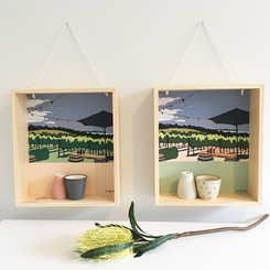 Red Hill Vineyard View Box by Colourmeadow