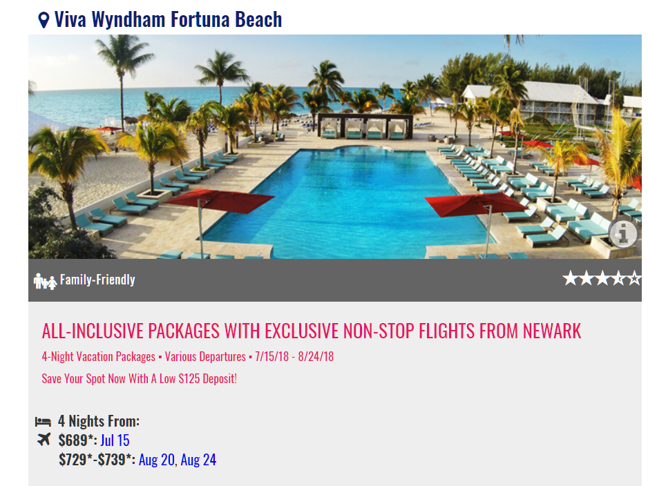 Grand Bahamas Island NYC promo