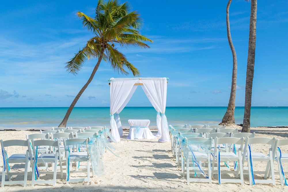 Sanctuary Cap Cana Beach Wedding Set Up