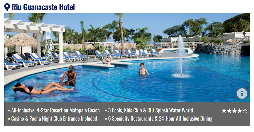 RIU Guanacaste All Inclusive Vacation Packages with flights