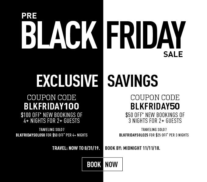 Black Friday Sale - All Inclusive Travel Promo Code