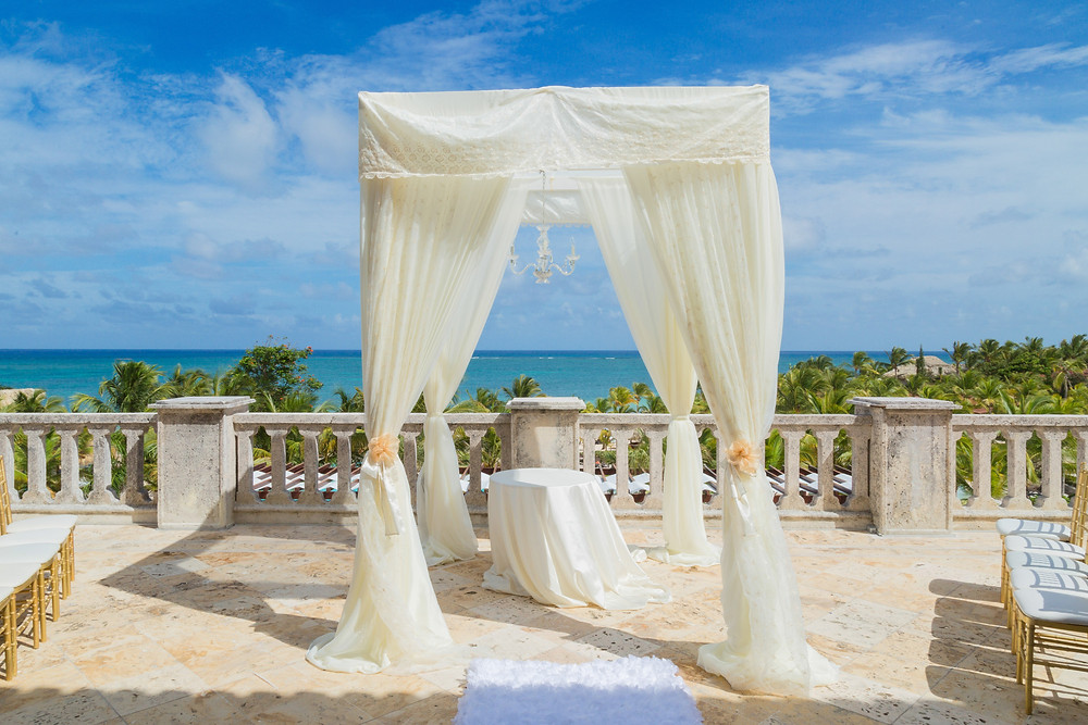 Sanctuary Cap Cana Wedding Set Up