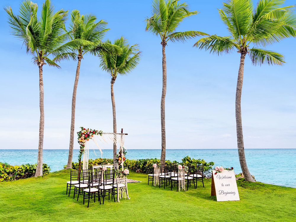 Sanctuary Cap Cana Garden Wedding Setup