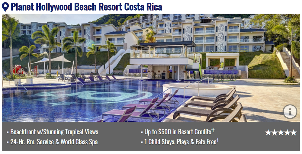 Planet Hollywood Beach Resort All Inclusive Costa Rica Packages with flights