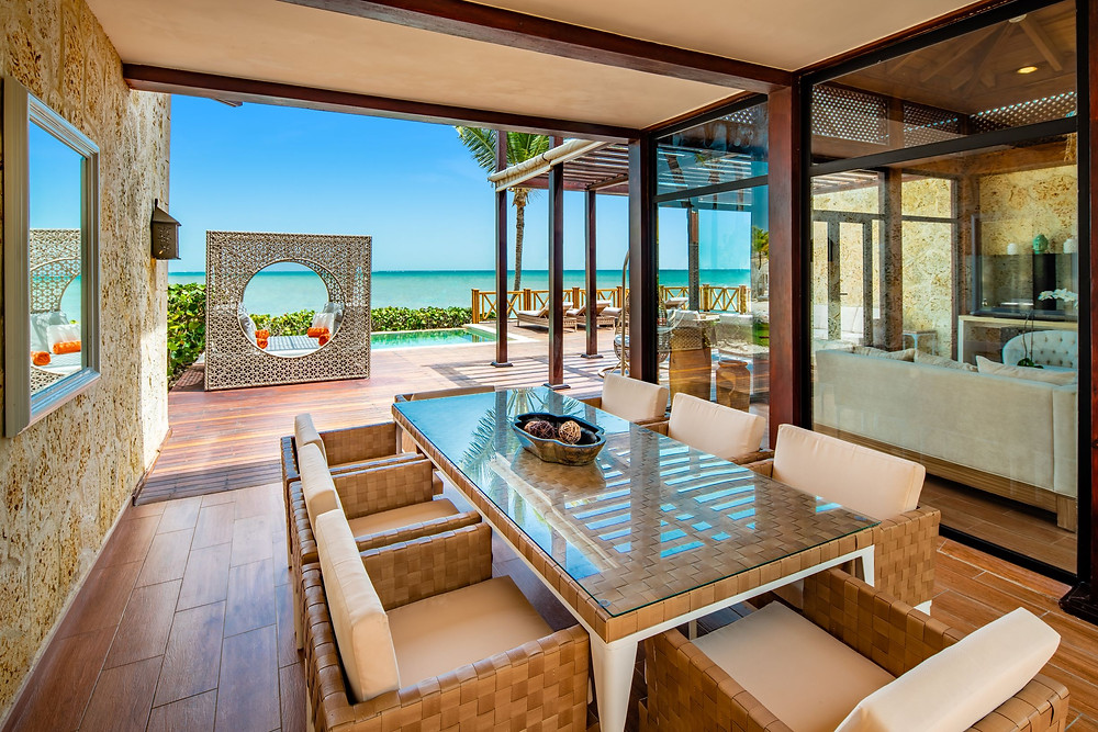 Sanctuary Cap Cana Royalty Villa Dining Outdoor Seating