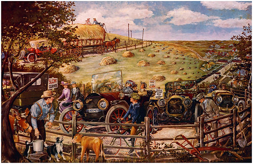 "Haywagon- Cadillac and Lozier - 11"" x 17"""