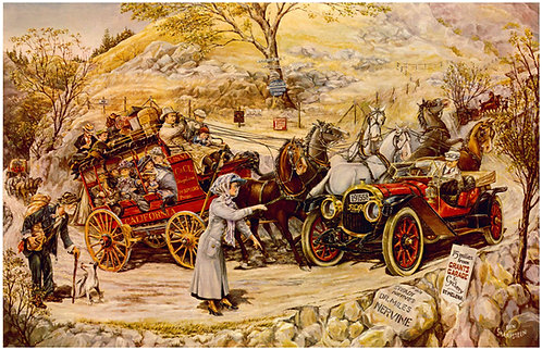"""Stage Coach and Pope-Hartford - 11"""" x 17"""""""