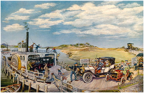 "Ferryboat – Packard and Maxwell - 11"" x 17"""