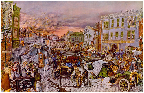 "San Francisco Earthquake & Fire, 1906 - 11"" x 17"""