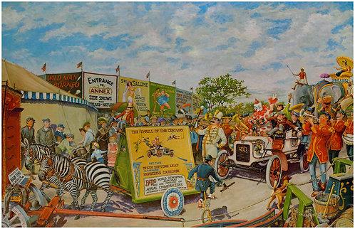"Circus Parade with 1906 Reo - 11"" x 17"""