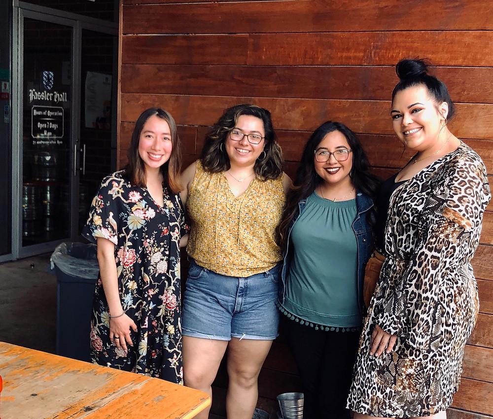 Marylin, Juliana, Liz, & Alex pose for a group photo at the first OKC Latina meet up.