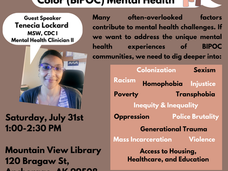 Community Conversation: BIPOC Mental Health Month