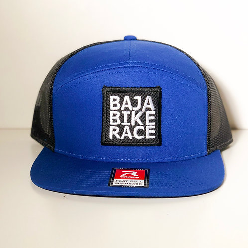 BBR Blue 7 Panel Trucker