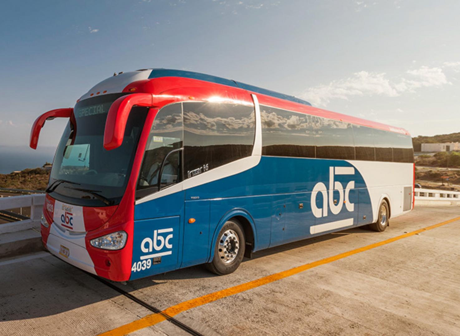 Clean and sleek bus!