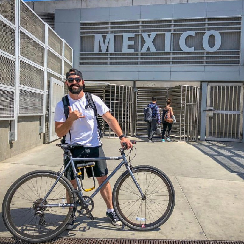 Race Director of Baja Bike Race; Josh Poe riding the Los Cruzadores transnational Bike Ride