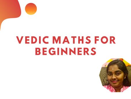 Vedic Maths for Beginners
