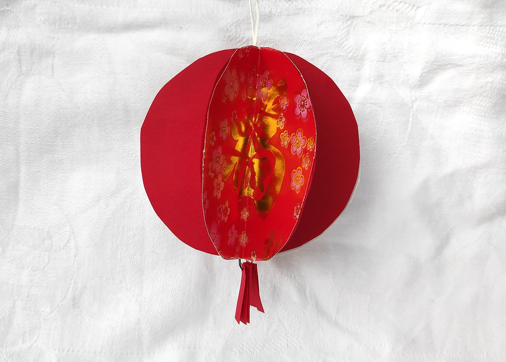 Zero waste chinese new year DIY red packet lantern