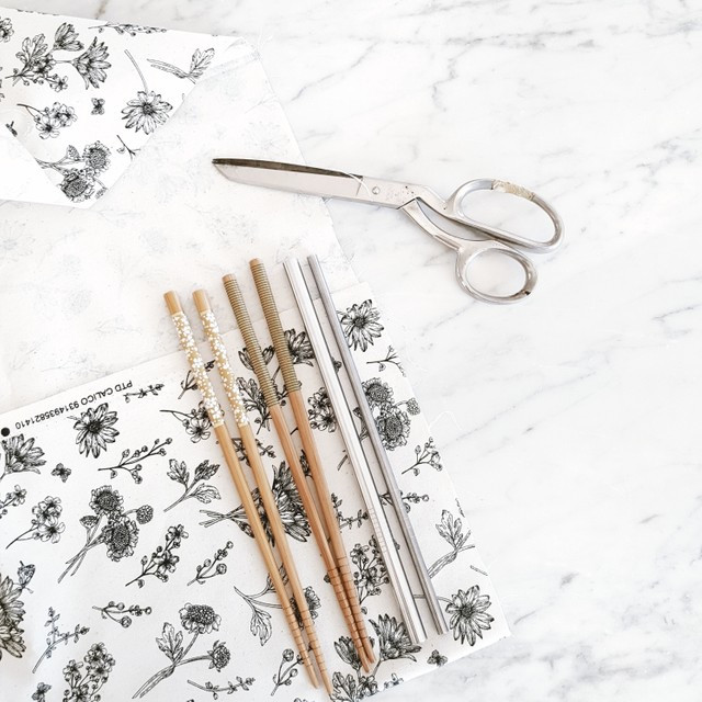 zero waste cutlery wrap roll DIY