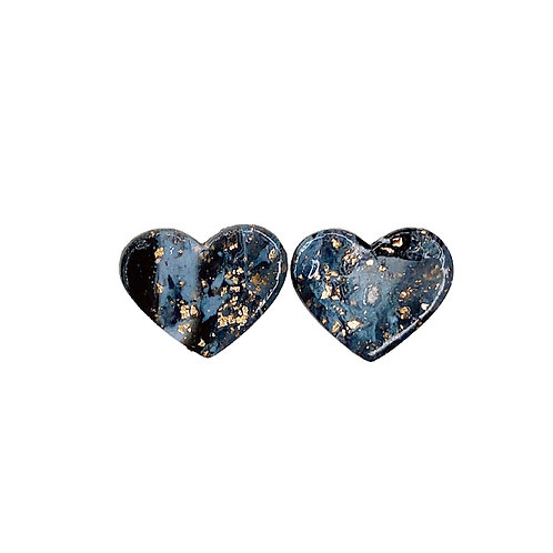 Marble Maybe (Heart Studs)