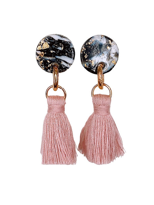 Marble Maybe (Pink Tassels)