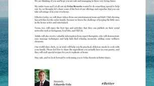 #BetterTogether - A Message From Eduardo Vela of Velas Resorts