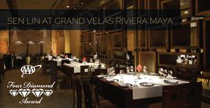 Sen Lin at Grand Velas Riviera Maya Awarded Four Diamonds by AAA