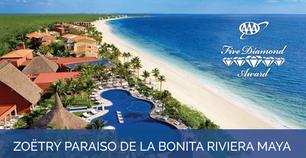 Zoëtry Paraiso de la Bonita Riviera Maya Awarded AAA Five Diamond Award for 15th Consecutive Year