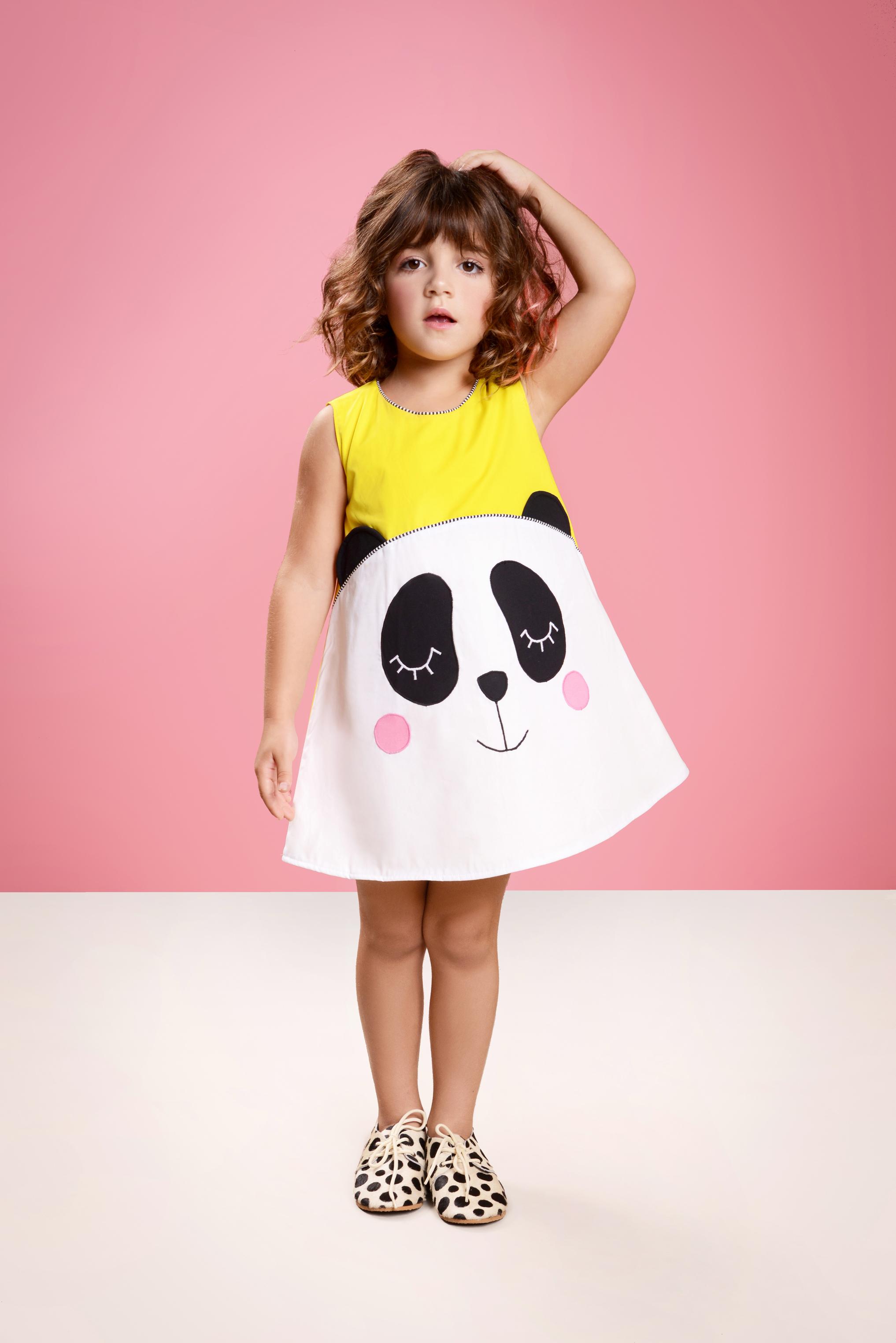 Panôli_Primavera/Verão_Vestido Panda