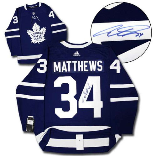 huge selection of 301fd 0ba37 Auston Matthews Signed Adidas Authentic Pro Hockey Jersey