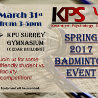 Spring Baminton Event Poster (March 2017
