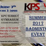KPS Summer Baminton & Wings (June 2017).