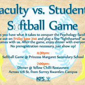 June 21 2013 Faculty vs Students softbal